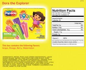 Dora Popsicles