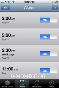 Nighttime Alarm