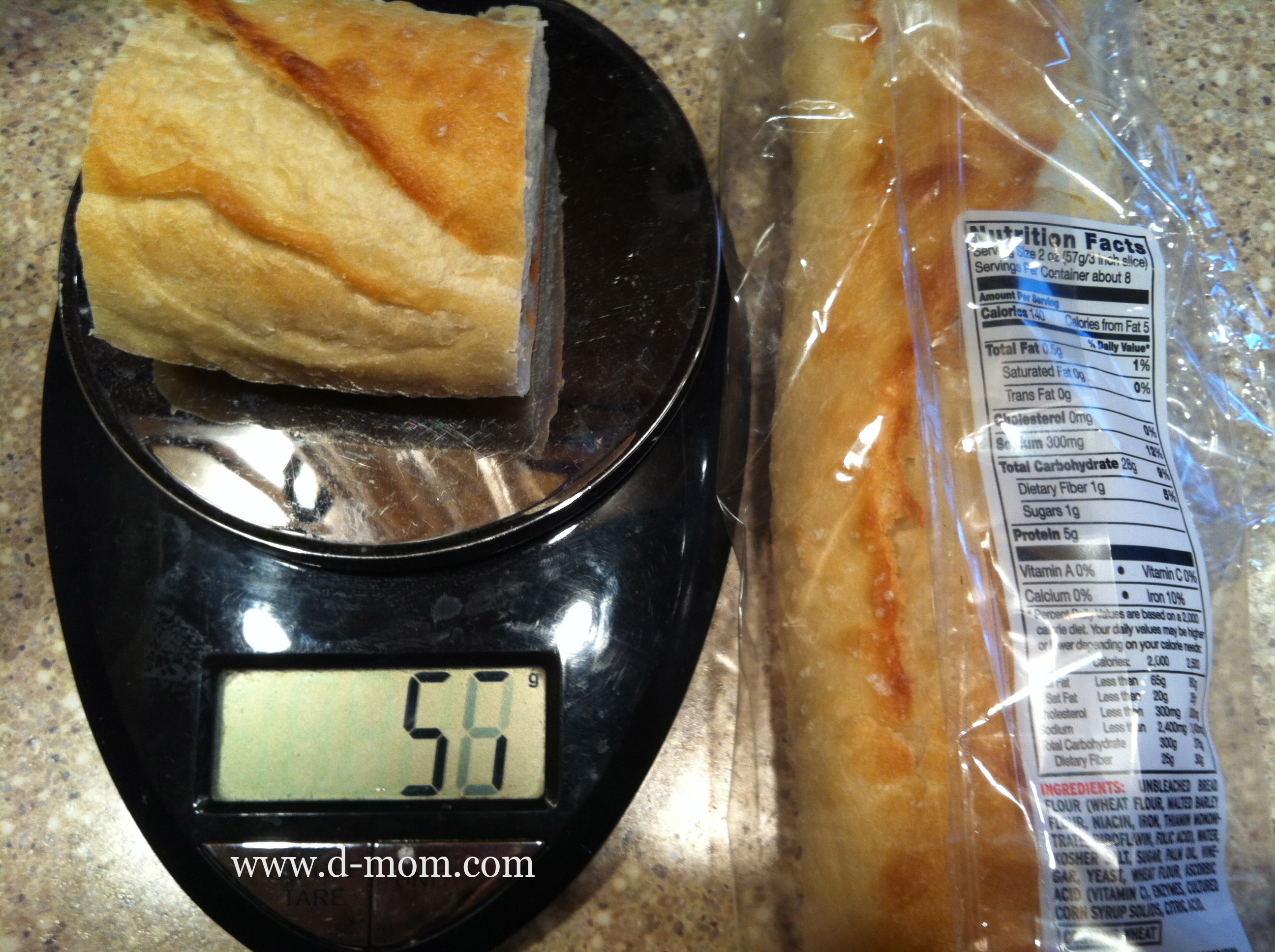 How much does bread weigh 100