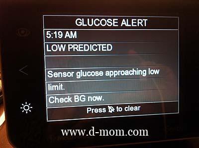 CGM mySentry Low Alert