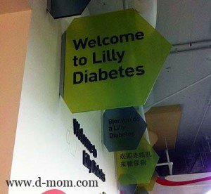 Lilly Diabetes Welcome Sign