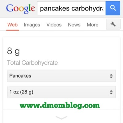 Google Carb Count