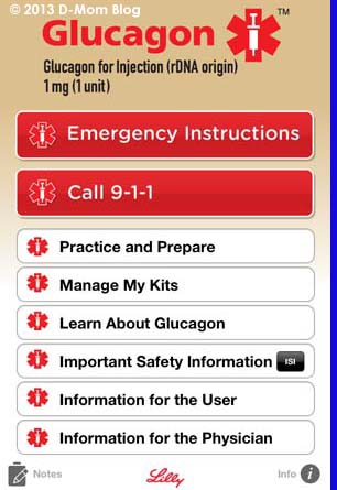 glucagon emergency kit instructions