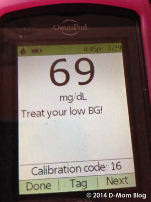 D-Mom's Low Blood Sugar