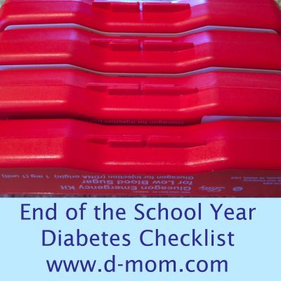 End of School Diabetes Checklist