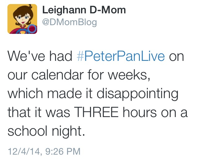 Peter Pan Live Tweet