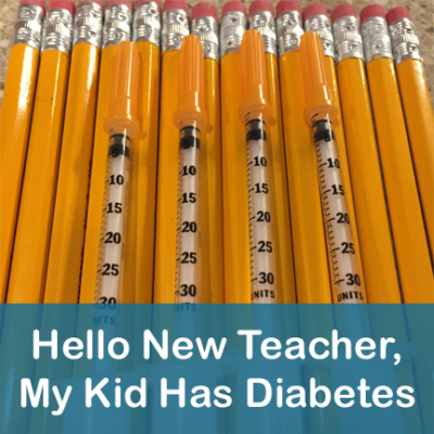 Diabetes at School New Teacher Letter
