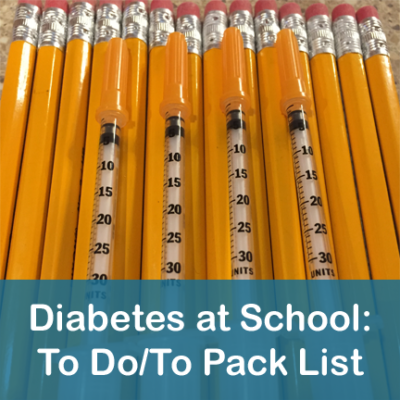 Diabetes at School To Do List