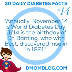 Diabetes Awareness Month Day 14